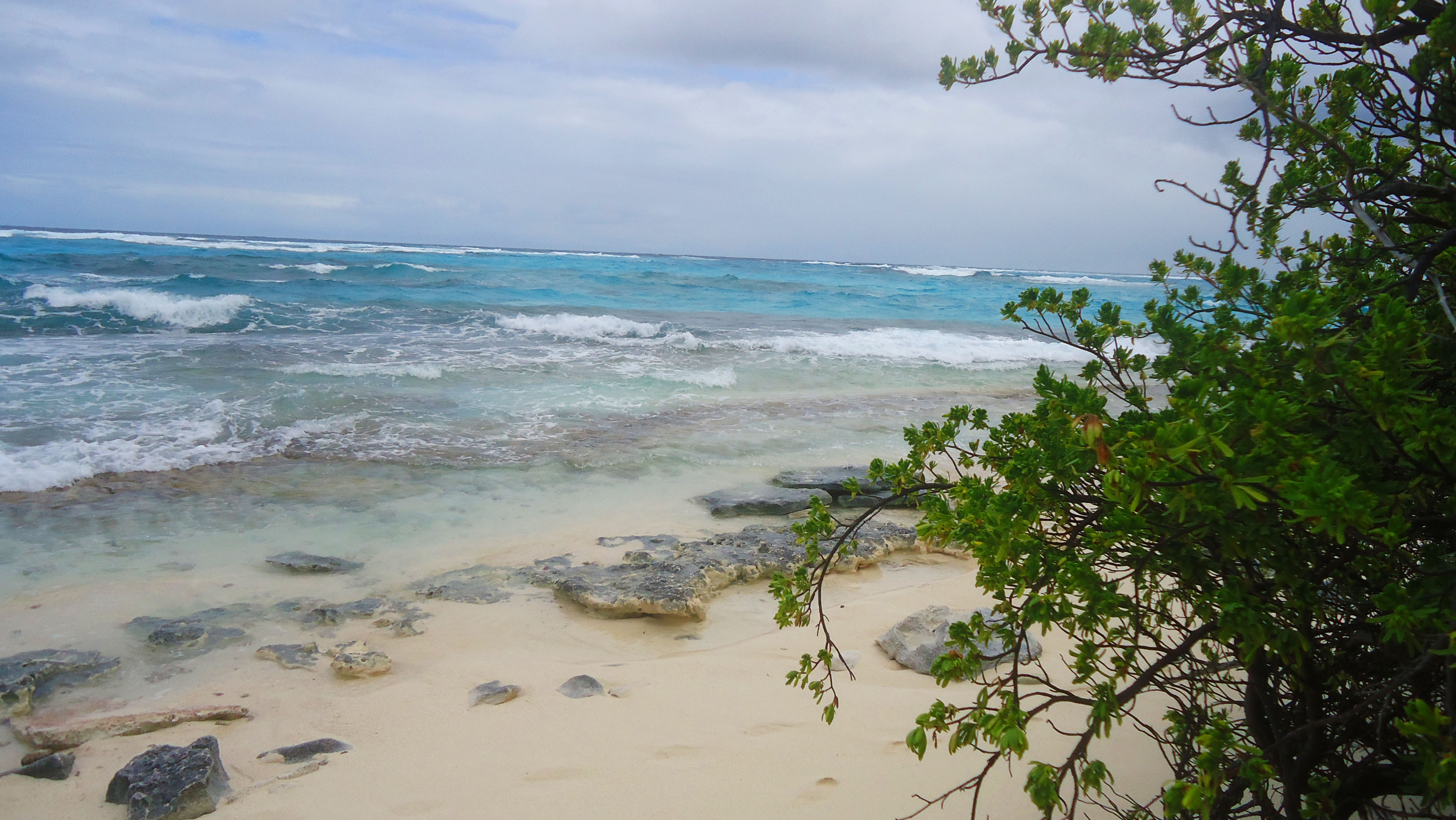 Praia em Johnny Cay