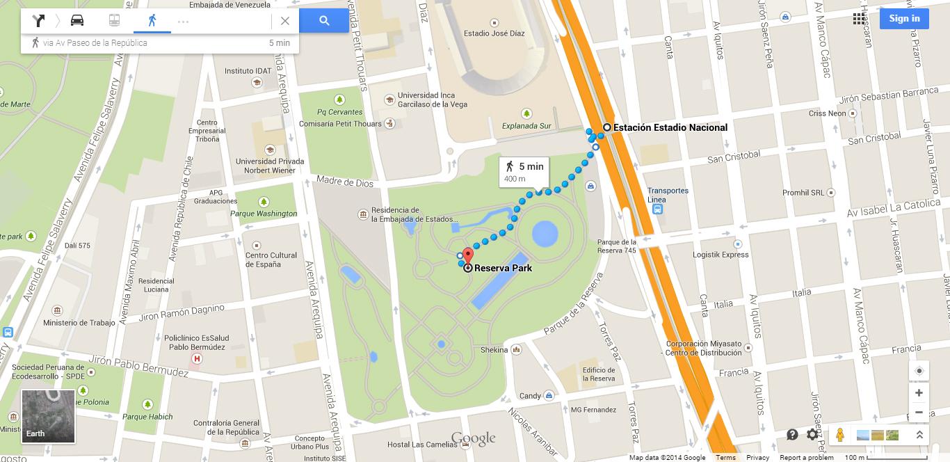Como chegar no Parque das Águas de Metropolitano