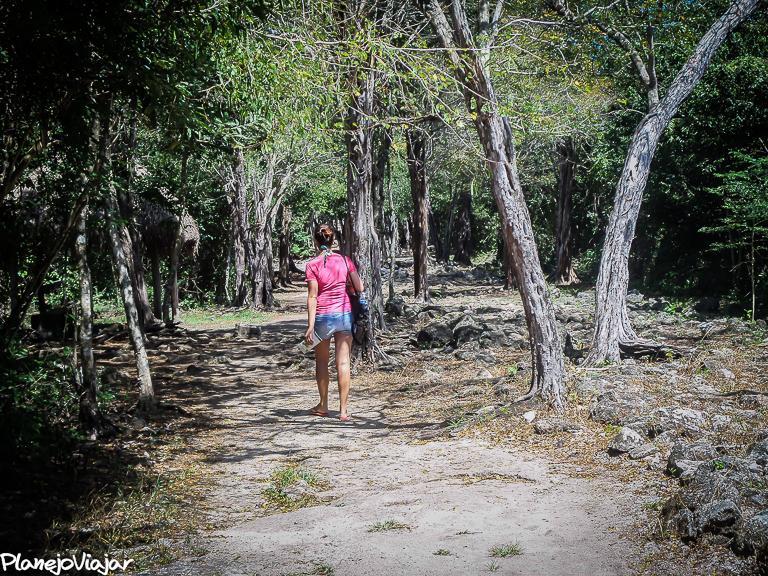Caminhando ao lado do Sacbe - Caminho branco