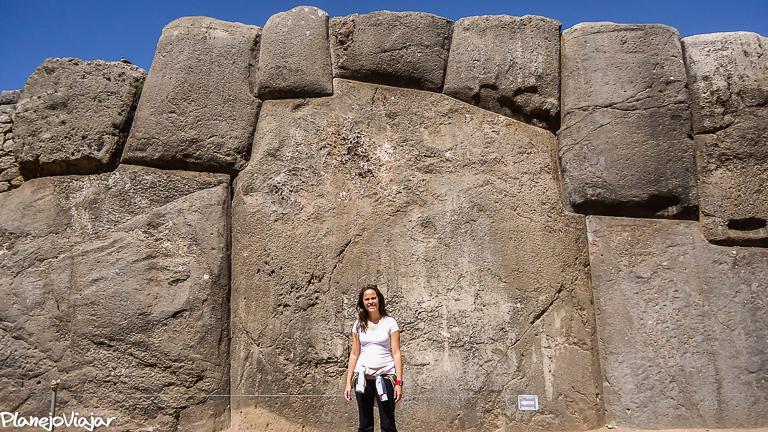 Detalhe de uma das pedras em Sacsayhuaman