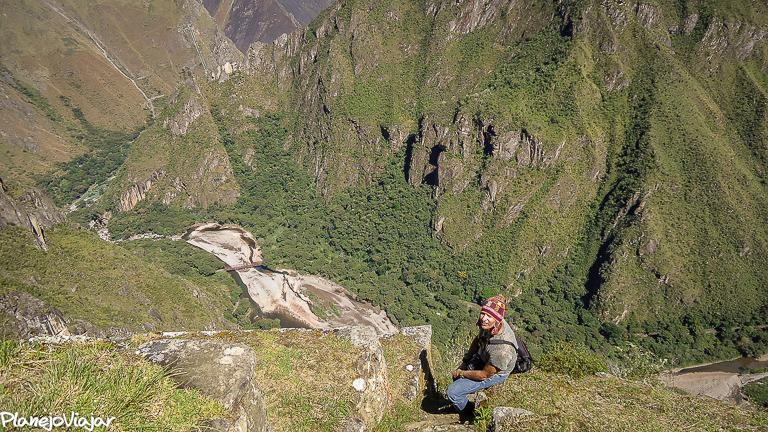 Mochileira em Machu Picchu