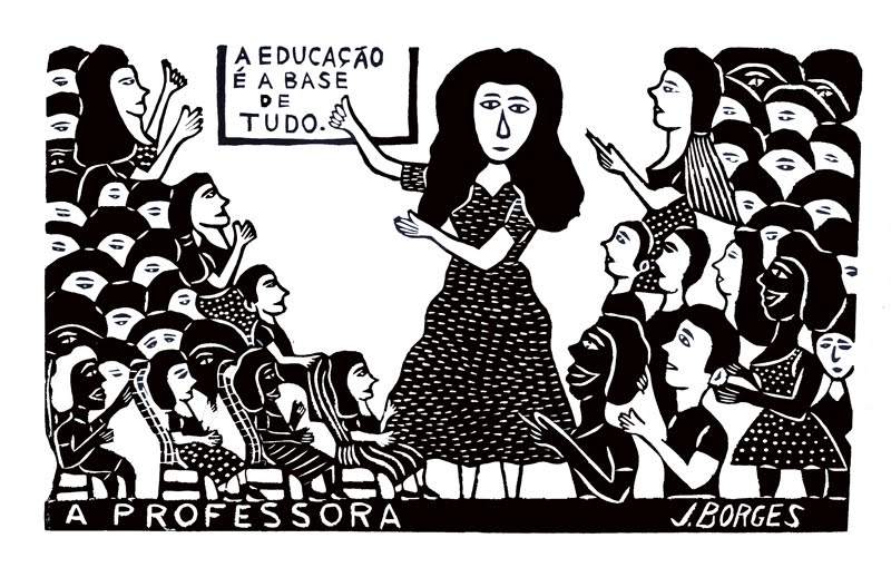 A professora J. Borges 48X66