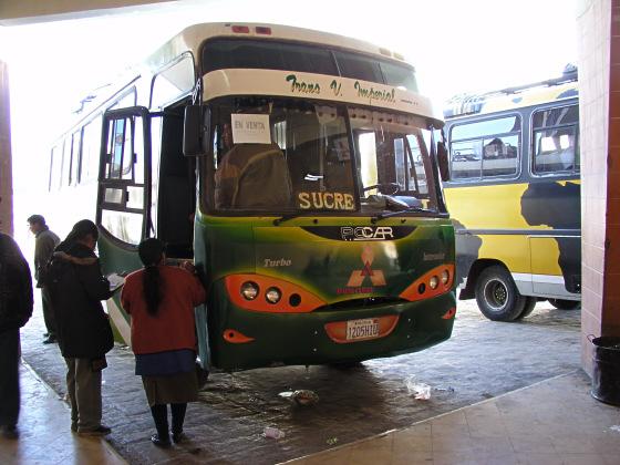 ônibus para Sucre