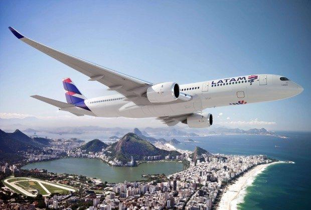 Nova pintura aviões LATAM